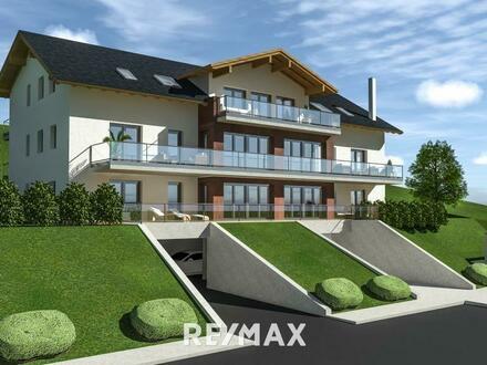 Familienwohnung mit einzigartigem Ausblick. 4-Zimmer, Terrasse, TG und AAP