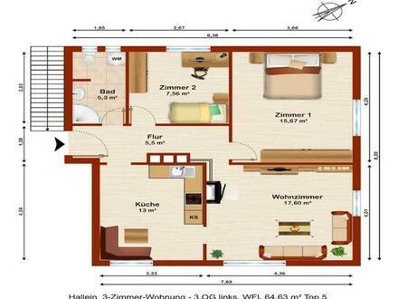 Anlegerwohnung - 3-Zimmer Wohnung in Stadtrandlage der Keltenstadt Hallein