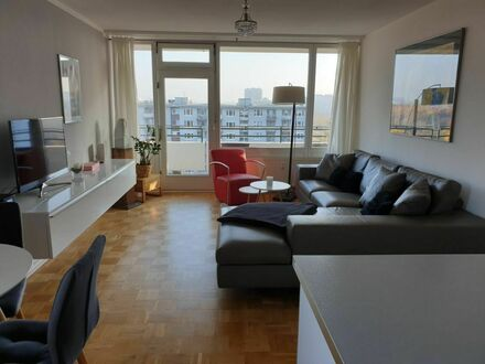 Business-Apartment in Lörick mit großem Balkon und tollem Ausblick   Business-Apartment in Lörick with large balcony and…