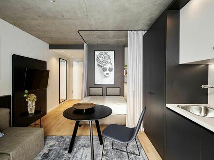 Designtes und vollständig möbliertes Studio in München, mit Balkon | Designed and fully furnished studio in Munich, with…