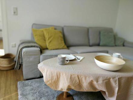 Helle 2-Zimmerwohnung möbliert mit Balkon nahe Frankfurt | Bright 2 room apartment furnished with balcony near Frankfurt