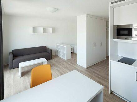 Anfang Juni bis Ende September - Helle, moderne 1 Zimmerwohnung in Frankfurter Gallusviertel - Großer Balkon mit SKYLINE…