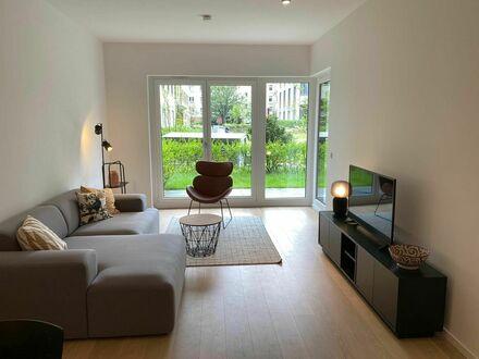 Helle, voll ausgestattete, luxuriöse Wohnung mit Garten | Bright, fully equipped, luxury apartment with garden