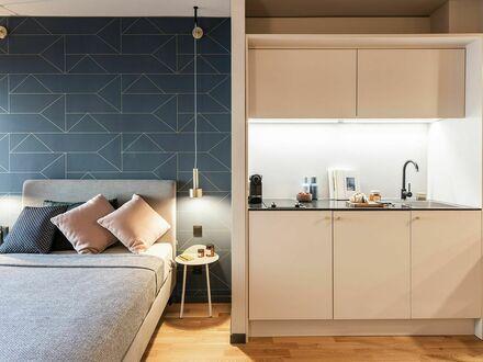 Großartiges Design-Serviced-Apartment in Frankfurt Airport für Langzeit | New Studio Serviced-Apartment in Frankfurt Ai…