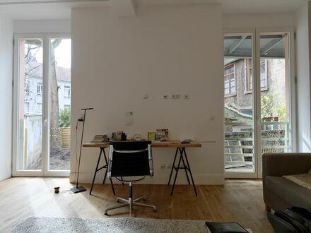3 Zimmer Zuhause im Nordend mit 80 qm Garten + moderner Einrichtung | 3 room apartment in central Nordend with 80 m2 garden