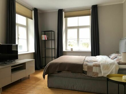 55 m² helle sehr große 1-Zi. Souterrain Whg. in bester Wohnlage | 55 m² bright and cosy studio (upscale residential area)