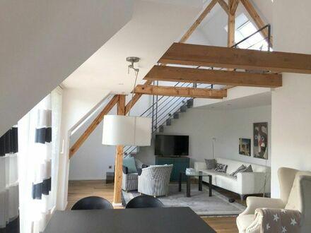 Moderne, maisonette Fachwerk Wohnung | Modern 2 Room Apartment truss style