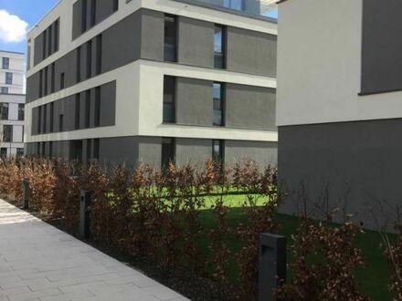 Helle moderne Wohnung mit hochwertiger Ausstattung und großer Gartenterrasse direkt am Beginn der Bahnstadt | Bright modern…