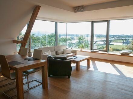 Wohnung Bellevue - Wunderschönes Loft mit Blick über Dresden | Apartment Bellevue - Wonderfull Loft with view over Dresden
