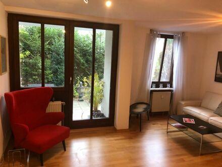 Ruhige gemütliche Gartenwohnung mit Tiefgarage in Thalkirchen Obersendling   Quiet cozy garden apartment with underground…