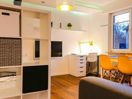 """1-Zimmer Designwohnung (kernsaniert 2019) mit Küche, Bad, Balkon und Tagesstellplatz, in mitten des Naturschutzgebietes """"Lemberg""""…"""