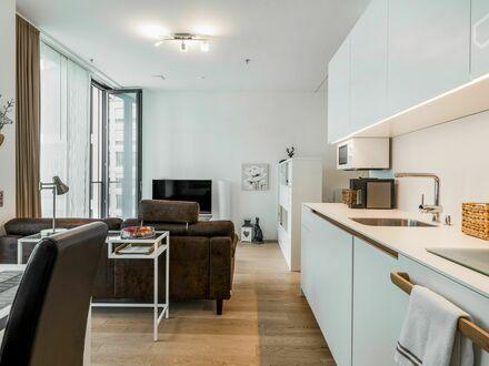 *PREMIUM* Apartment, Dachgarten mit Alpenblick, Concierge, Fitnessraum, Kitchenlounge, 1,5 Zi im FRIENDS, nahe S-Bahn, virtuelle…