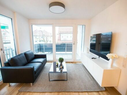 Exklusiv ausgestattete 2-Zimmer-Neubau-Wohnung mit Blick auf die Weinberge in Kernen-Stetten | Spacious, modern flat in quiet…