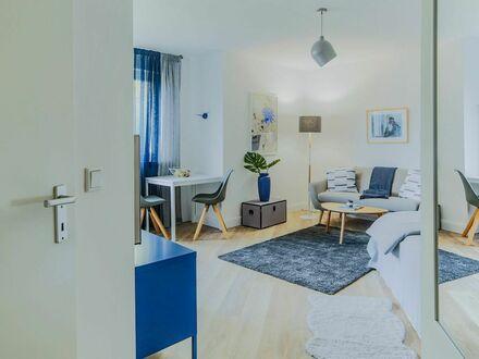 Zentral in Bilk mit top Verkehrsanbindung*** stilvoll möbliert *** neue 1-Zimmer-Wohnung mit Küche *** mit Reinigung | Centrally…