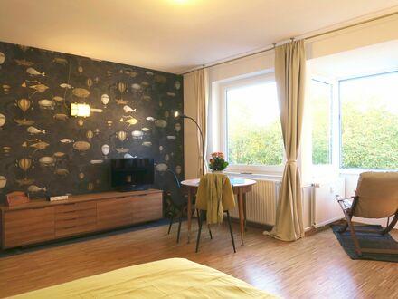 Ruhiges Apartment mit schönem Blick in Düsseldorf | Peaceful studio with lovely view
