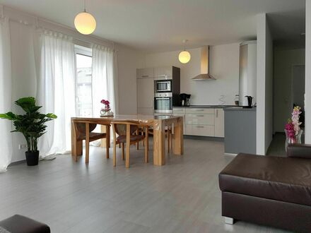 Helle moderne Wohnung mit großem Balkon   Bright modern apartment with large balcony