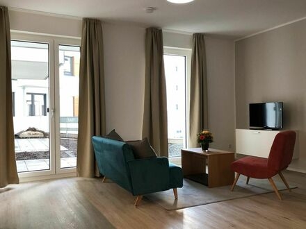 Vollausgestattetes, möbliertes 2 Zimmer Apartment mit Terrasse in Bonn Beuel | Furnished & fully equipped 2-room apartment…