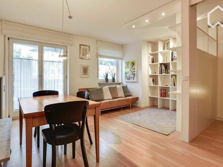 Moderne, stilvoll möblierte Parterre-Wohnung mit süd-west Balkon und kleinem Garten | Modern, stylish and furnished ground…