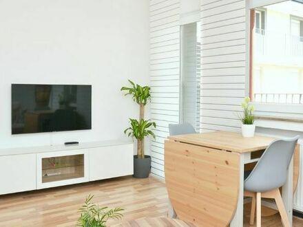 Moderne möblierte Wohnung in Köln/ Deutz mit optimaler Verkehrsanbindung | Modern furnished apartment in Cologne/ Deutz with…