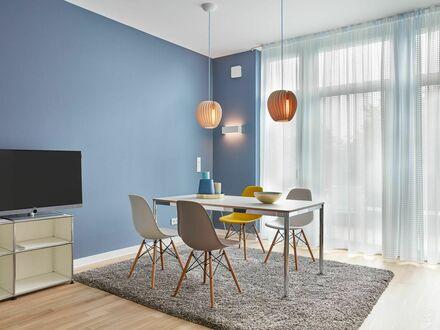 Hochwertig ausgestattete 2-Zimmer Whg m. Balkon auf dem traumhaften Insel Eiswerder | 1-bedroom apartment with upscale design…