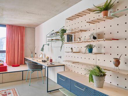 Studio Large im ruhigen Leipziger Reudnitz mit Gemeinschaftsküche | Studio Large in the quiet neighborhood of Leipzig Reudnitz…
