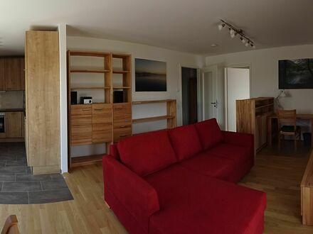 Helle und sonnige 2-Zimmer Neubau-Gartenwohnung mit Blick auf Feld und Wald, vollständig möbliert und ausgestattet | Bright…
