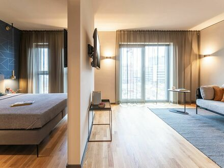 Neues Design-Serviced-Apartment in Frankfurt Airport , Lounge, Longstay direkt am Flughafen | New Design-Serviced-Apart…