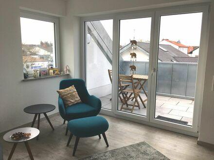 50m2 möbilierte Wohnung in Mering - 27 min via Bahn zu München Hbf | 50m2 fully furnished apartment with loggia and garage…