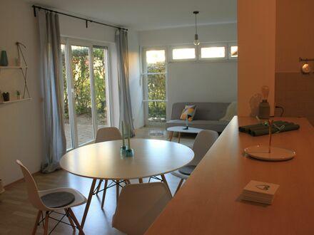 Elegant und gemütlich – Voll möblierte 2,5 Z EG-Wohnung (80m²) mit Terrasse in ruhiger, zentraler Wohnlage in Frankfurt am…