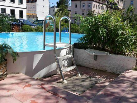 3 Zimmer FEWO in Plagwitz+ Garten+Pool | 2 bedroom apartment + Living room+ Kitchen+bath + garden