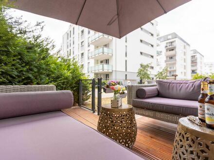 Wunderschöne & schicke Wohnung nähe Messe mit Garten Lounge in Frankfurt am Main | Fantastic, pretty suite located near fair…