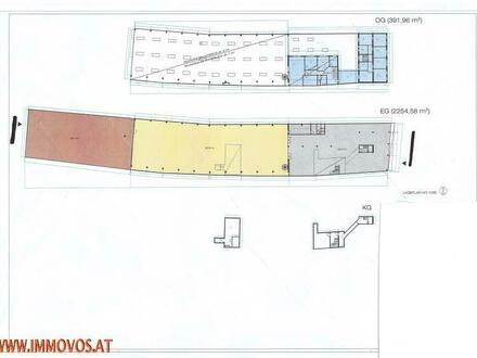 Garagen Halle mit Freiflächen