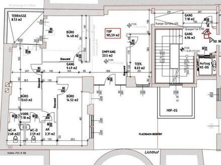 Nächst Servitenviertel/Lycée: Gestaltbares Büro mit Freifläche + Lift im barriere-frei zugänglichen sanierten Altbau in…