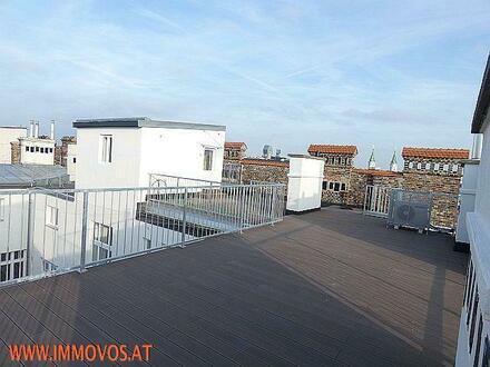 *** ERSTBEZUG: Penthouse mit 80 m² SONNENTERRASSE am HAMERLINGPLATZ***