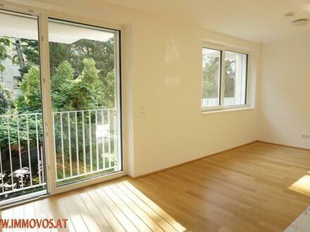 Die PURE IDYLLE bei der Kaasgraben-Kirche !! Exquisite 2 Zimmer Balkonwohnung + Garten, Garage, Sauna + Fitnessraum