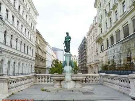 Direkt am Puls der Stadt: Wohn-Büro-Kombi in wunderschönem Mariahilfer Altbau-Juwel an der Grenze zum 1. Bezirk