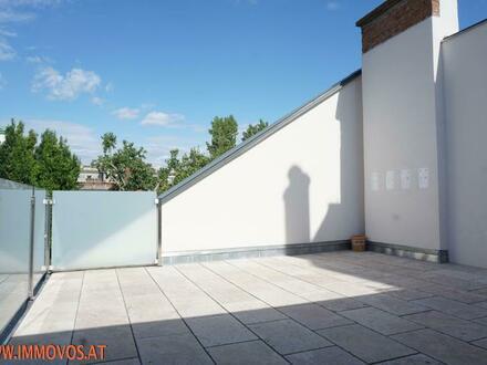 Familienwohnung mit 2 Terrassen + Grünblick auf 1 Ebene - Exquisiter 4-Zimmer Erstbezug zentral im 8. !!