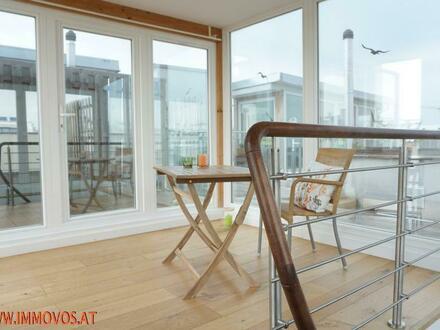 Ihr Platz an der Sonne: Ganztägig sonnige 43 m2 Dachterrasse + gepflegte 2-Zimmer-Wohnung in ruhiger Wohnlage