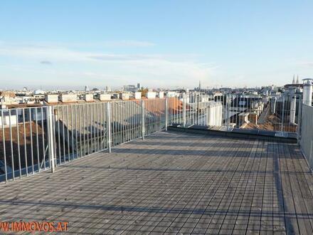 360 Grad Rundgang: Fantastisches Panorama von Penthouse-Terrasse - 4 Zimmer Erstbezug mit Dachterrassen-Traumblick + Stellplatz