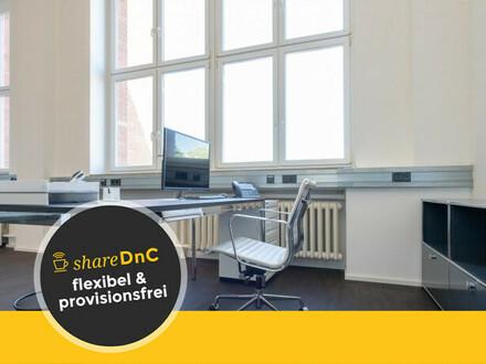 Arbeitsplätze in modernen Loftbüro mit Dachterrasse im Cassellapark - All-in-Miete