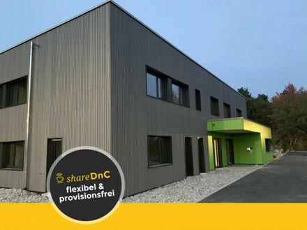 Komplett möblierter Büroraum in Holzneubau - All-in-Miete