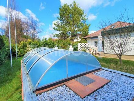 Familientraum mit Pool, Garten und Sauna im Grünen