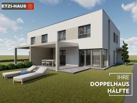 LEOPOLDSDORF bei Wien: Doppelhaushälfte inkl. Grund