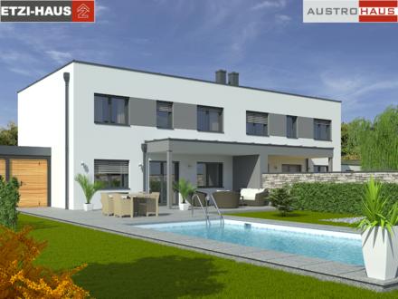 Taiskirchen: Doppelhaushälfte + Grund ab € 260.000,-