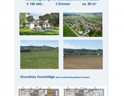 Fertigteilhaus mit 80 m² - Neubau, Schlüsselfertig