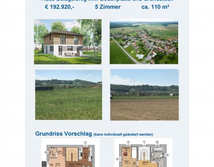 Fertigteilhaus mit 110 m² - Neubau, Schlüsselfertig