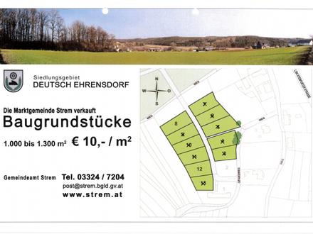 € 10,00/m² - Baugrundstücke im Ortsteil Deutsch Ehrensdorf