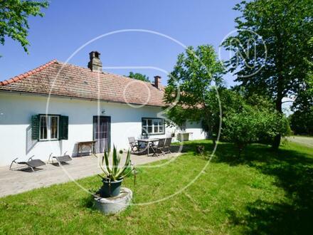Romantischer Landsitz mit Panoramafernsicht und viel Bauland!