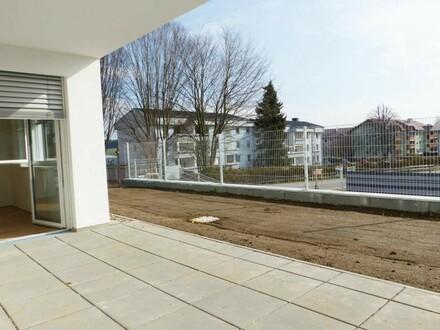 Sonnig! Geförderte Neubauwohnung mit Terrasse und Eigengarten