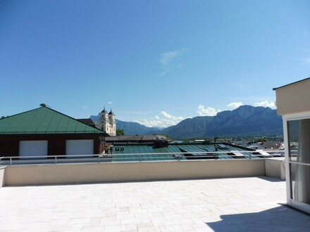 Über den Dächern von Mondsee! Elegante Dachterrassenwohnung mit sensationellem Panoramablick
